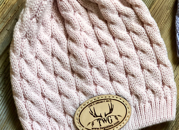 Pretty pink cable knit