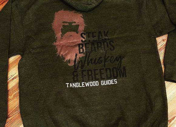 Olive beard hoodie