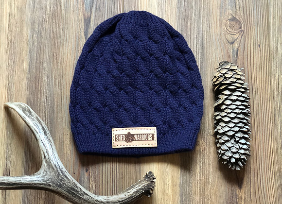 Navy cable knit shedwarrior