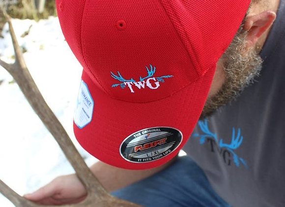 Red and Bright blue TWG Pro cap