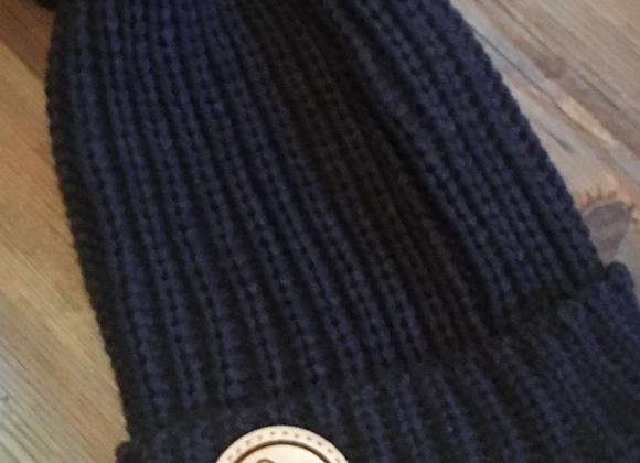 Brushed blue pompom