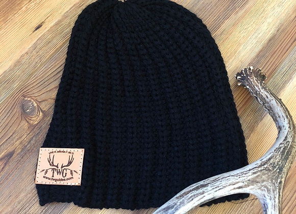 Black slouchy knit