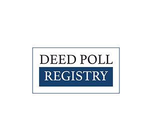 Deed Poll Registry Logo | Black and Blue Logos