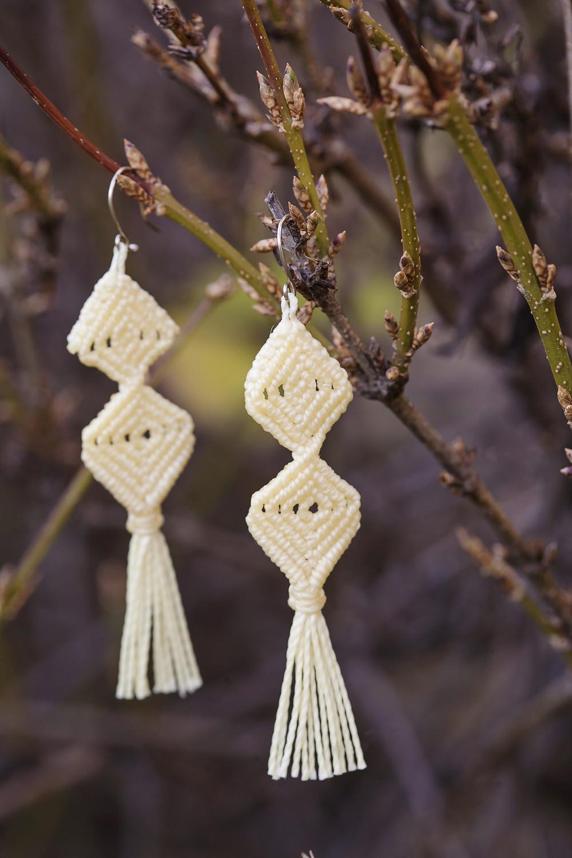 macrame fall earrings