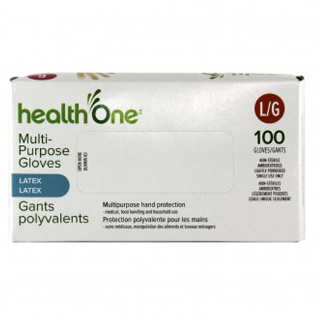 H One Gloves Latex Large Box 100's