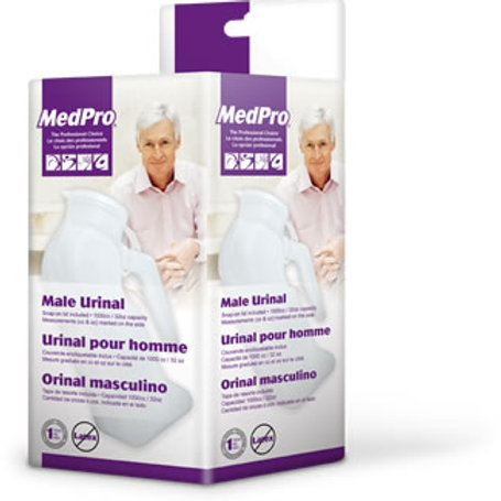 AMG Male Urinal with Cover 1 Liter