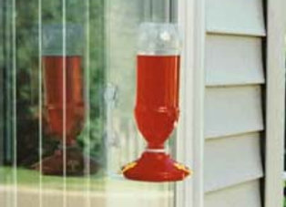 Soda Bottle Hummingbird Window Feeders - 2 pack (poly bagged)