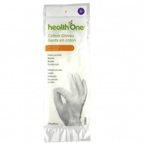 H One Gloves Cotton Medium 1 Pair