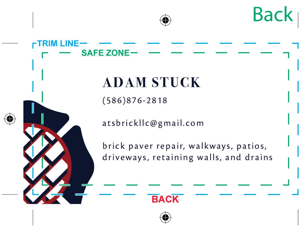 Business Card Design for Bricklayer
