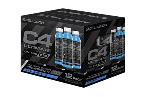 C4 ULTIMATE ON THE GO 12Ct. ICY BLUE RAZZ RTD | TNU FITNESS