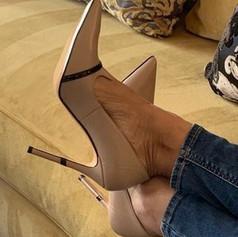 Amaya Taupe Designer Shoes For Women