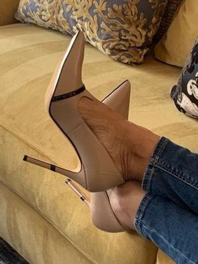 Amaya Taupe Designer Shoes For Women | AMRJ Shoe Design