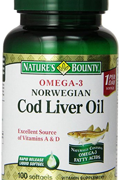 Nature's Bounty Cod Liver Oil Caps 100's