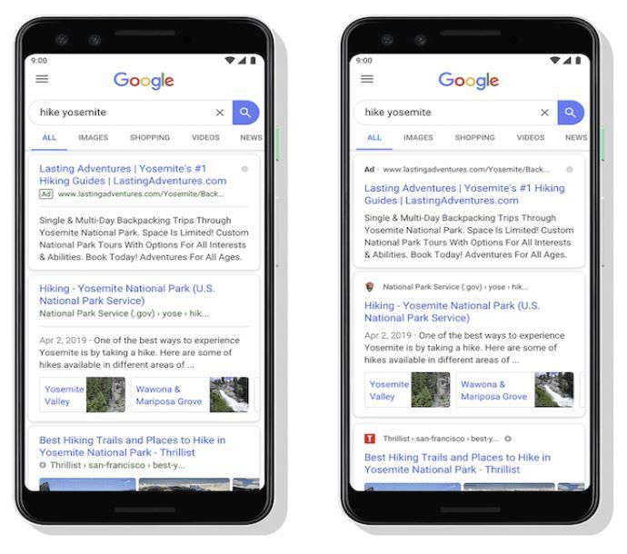 Google Favicon Search Result Examples