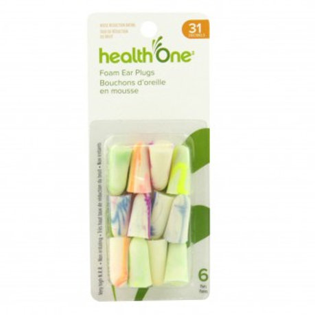 H One Ear Plugs in Bright Colors 6 Pairs
