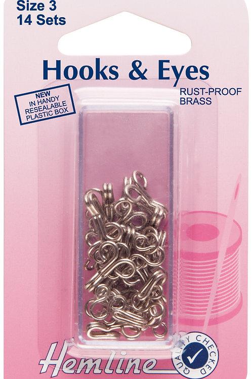 Hooks and Eyes: Nickel - Size 3