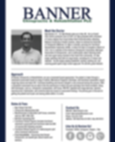 Dr. Kyle Banner | Banner Chiropractic and Rehabilitation PLC | Chiropractic Manipulation | Massage Therapy | Nutritional Counseling