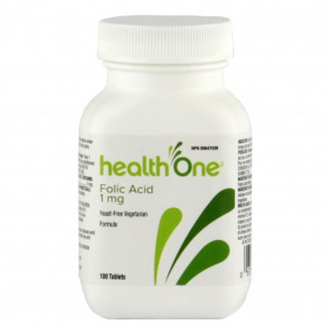 H One Folic Acid 1mg Yeast 100's