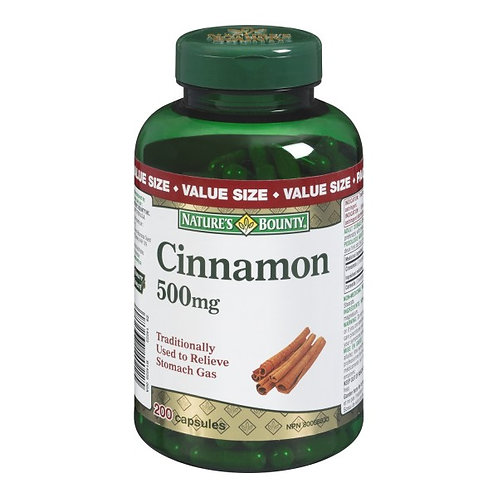 Nature's Bounty Cinnamon 500mg 200's