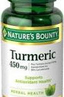 Nature's Bounty Tumeric 450mg 120's