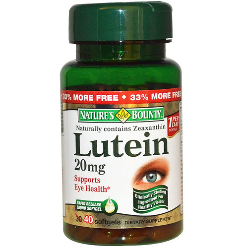Nature's Bounty Lutein Soft Gels 30's