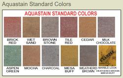 XCEL Surfaces Aqua Stains Color Chart
