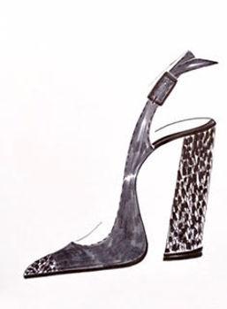Roxie Shoe Drawing