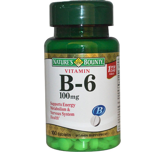 Nature's Bounty B6 100MG Tabs 100's