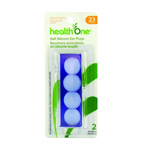 H One Ear Plugs Silicone Soft 2 Pairs