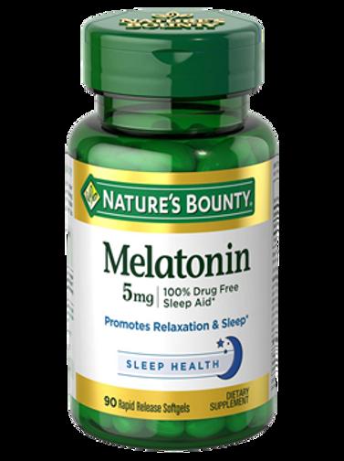 Nature's Bounty Melatonin 5mg 100's