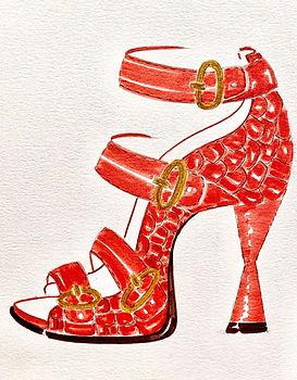 Monica Shoe Drawing
