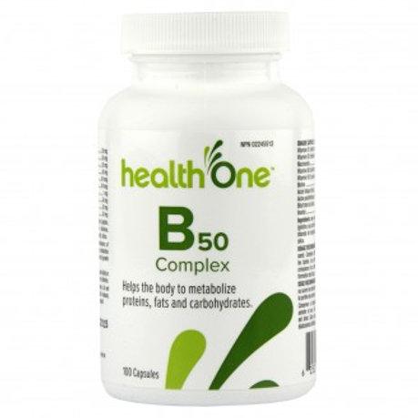 H One Vitamin B50 Complex Cap 100's