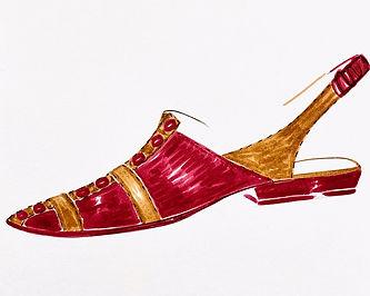 Jess Shoe Drawing