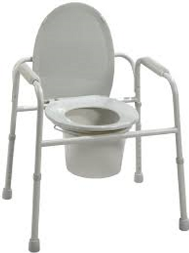 AMG Deluxe Commode with Pail and Cover