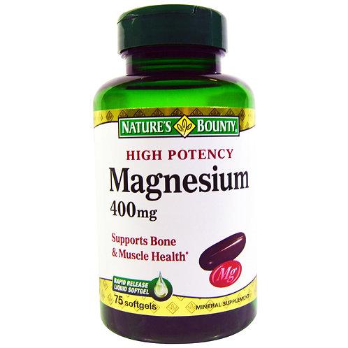 Nature's Bounty Magnesium 400mg 125's