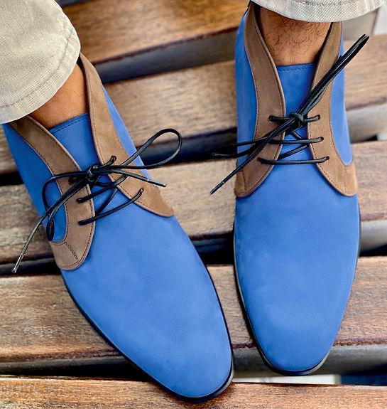 CHARLZ Blue Suede Shoes | Mark Schwartz