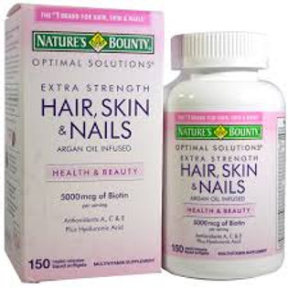 Nature's Bounty Hair/Nail Caps 60's