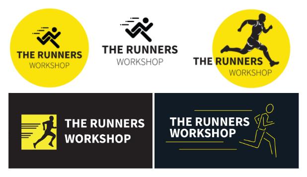 Running Man Logos | Runner with logo examples
