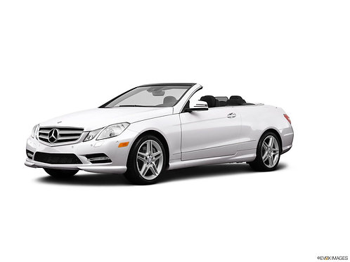 2013 White Mercedes Benz E550 Convertible