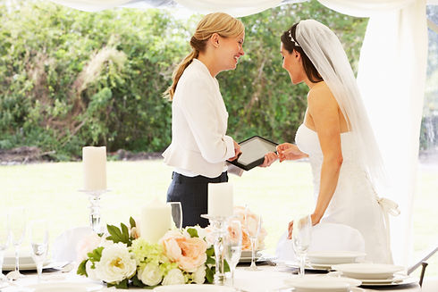 Bride Talking To Wedding Coordinator | Wedding Services