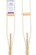 AMG Laminated Wood Crutches 1 Pair