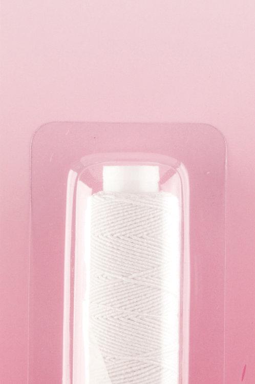 Shirring Elastic: White - 20m x 0.75mm