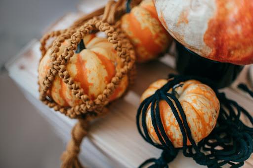 macrame pumpkin   macrame pumpkin holder