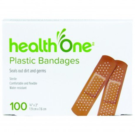 H One Plastic Bandages Box 100's