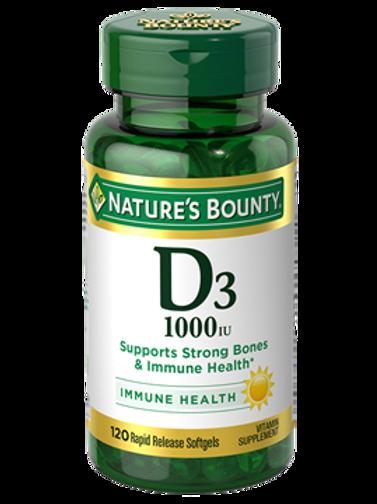 Nature's Bounty Vitamin D 1000IU 100's