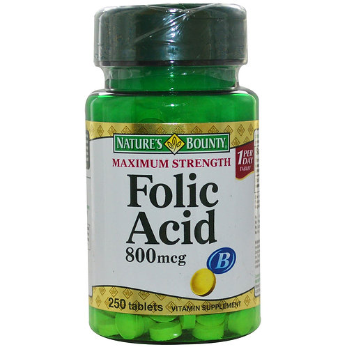 Nature's Bounty Folic Acid Tab 150's