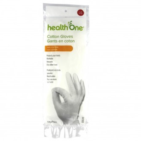 H One Gloves Cotton Large 1 Pair