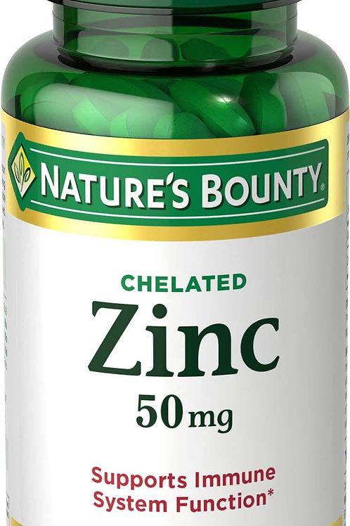 Nature's Bounty Zinc 50MG CPLT 100's