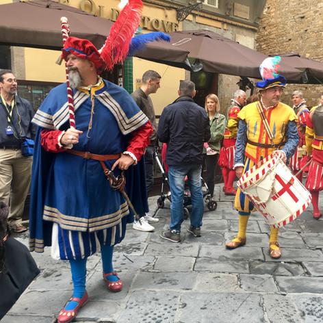 Palazzo Vecchio Guards with Renaissance Company travelers.