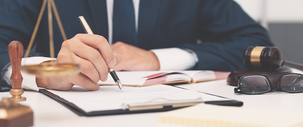 Lawyer Consultation & Recruitment | Lawyer Filling Out Documents